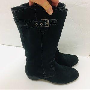 🌷 Boots Tall Leather Bjorndal Black Zipper🌷🌷